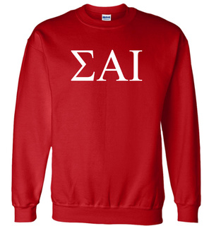 Sigma Alpha Iota Lettered World Famous $19.95 Greek Crewneck
