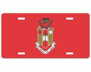 Sigma Alpha Iota Crest - Shield License Plate