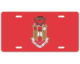 Sigma Alpha Iota Crest - Shield License Plate