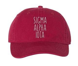 Sigma Alpha Iota Mod Comfort Colors Pigment Dyed Baseball Cap