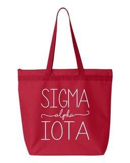 Sigma Alpha Iota New Handwriting Tote Bag