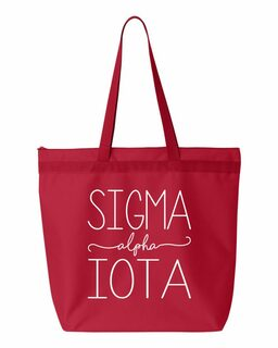 Sigma Alpha Iota New Handwriting Tote Bag