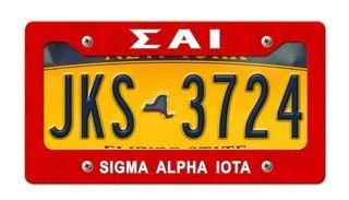 Sigma Alpha Iota New License Plate Frame