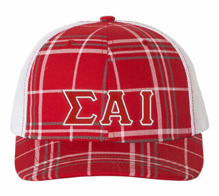 Sigma Alpha Iota Plaid Snapback Trucker Hat