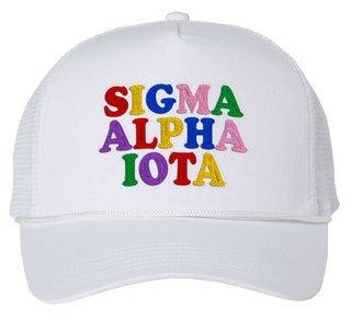 Sigma Alpha Iota Rainbow Trucker Hat