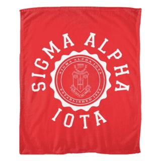 Sigma Alpha Iota Seal Fleece Blanket