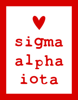 Sigma Alpha Iota Simple Heart Sticker