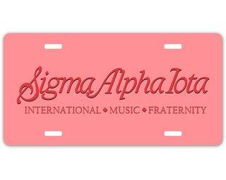 Sigma Alpha Iota Sorority Logo License Cover