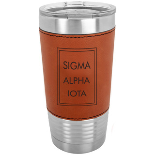 Sigma Alpha Iota Sorority Leatherette Polar Camel Tumbler