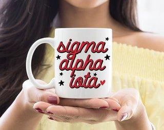 Sigma Alpha Iota Star Mug