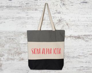 Sigma Alpha Iota Tri Color Tote Bag