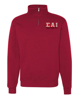 Sigma Alpha Iota Twill Greek Lettered Quarter zip