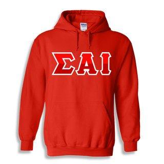 Sigma Alpha Iota Two Tone Greek Lettered Hooded Sweatshirt