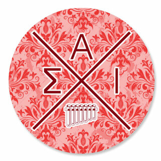 Sigma Alpha Iota Well Balanced Round Decals