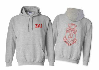 Sigma Alpha Iota World Famous Crest - Shield Hooded Sweatshirt- $35!