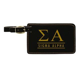 Sigma Alpha Leatherette Luggage Tag