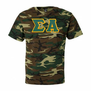 DISCOUNT-Sigma Alpha Lettered Camouflage T-Shirt