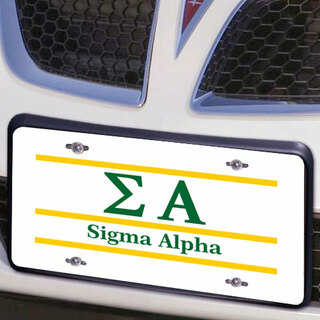 Sigma Alpha Lettered Lines License Cover