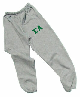 Sigma Alpha Lettered Thigh Sweatpants