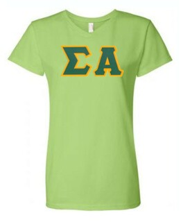 DISCOUNT-Sigma Alpha Lettered V-Neck Tee