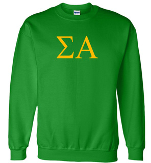 Sigma Alpha Lettered World Famous Greek Crewneck