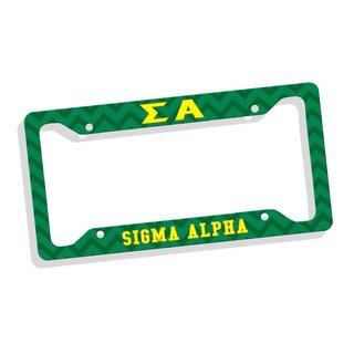 Sigma Alpha Custom License Plate Frame