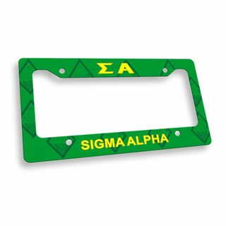 Sigma Alpha License Plate Frame