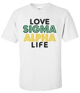 Sigma Alpha Love Life Tee