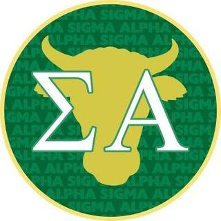 Sigma Alpha Mascot Round Decals