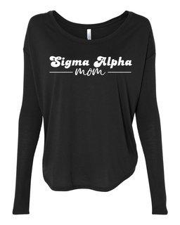 Sigma Alpha Mom Bella + Canvas - Women's Flowy Long Sleeve Tee
