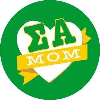 Sigma Alpha Mom Round Decals