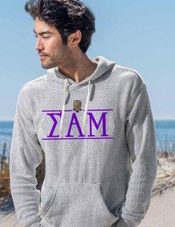 Sigma Alpha Mu Line Crest Lucas Loop Fleece Hood