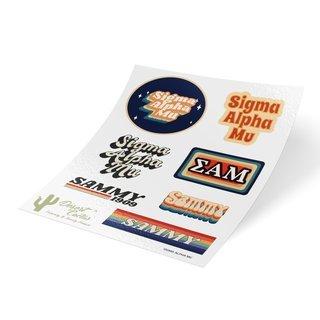 Sigma Alpha Mu 70's Sticker Sheet