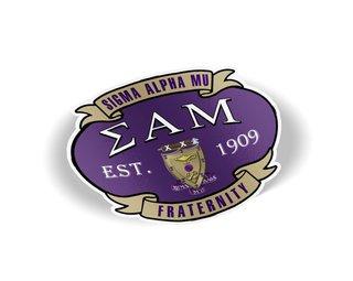 Sigma Alpha Mu Banner Crest - Shield Decal