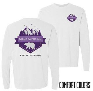 Sigma Alpha Mu Big Bear Long Sleeve T-shirt - Comfort Colors