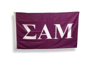 Sigma Alpha Mu Big Greek Letter Flag