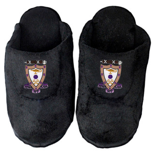 Sigma Alpha Mu Black Solid Slipper