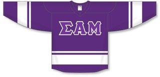 DISCOUNT-Sigma Alpha Mu Breakaway Lettered Hockey Jersey