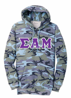 DISCOUNT-Sigma Alpha Mu Camo Pullover Hooded Sweatshirt