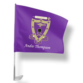 Sigma Alpha Mu Car Flag