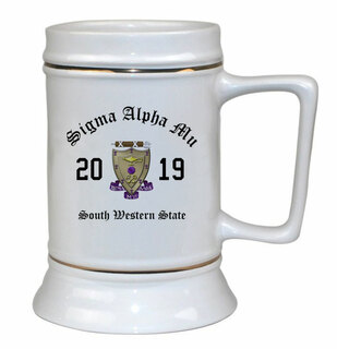 Sigma Alpha Mu Ceramic Crest & Year Ceramic Stein Tankard - 28 ozs!