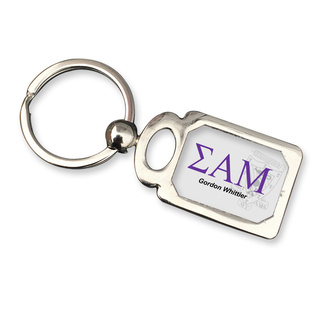 Sigma Alpha Mu Chrome Crest Key Chain