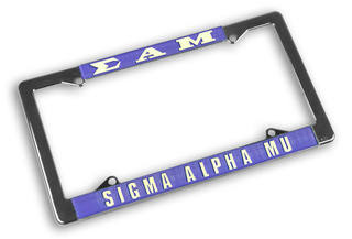 Sigma Alpha Mu Chrome License Plate Frames