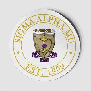 Sigma Alpha Mu Circle Crest - Shield Decal