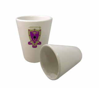Sigma Alpha Mu Crest Ceramic Collectors Glass