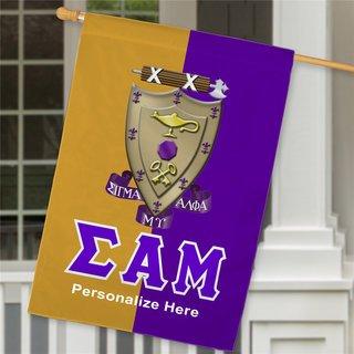 Sigma Alpha Mu Crest House Flag