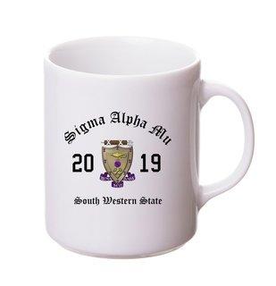 Sigma Alpha Mu Crest & Year Ceramic Mug