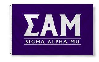 Sigma Alpha Mu Custom Line Flag