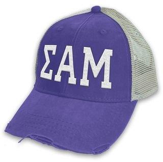 Sigma Alpha Mu Distressed Trucker Hat