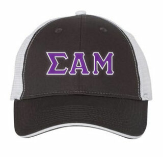 Sigma Alpha Mu Double Greek Trucker Cap
